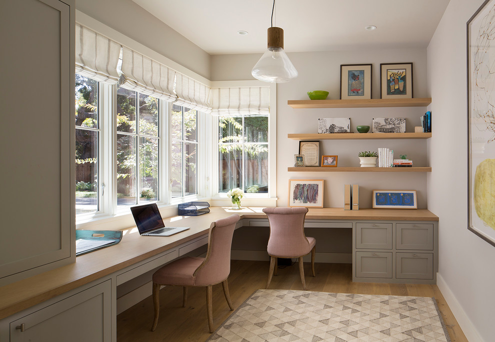 Corner Home Office For Two