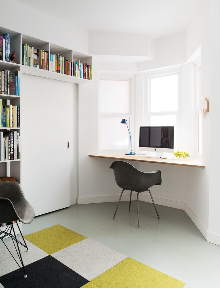 Floating window desk for small spaces