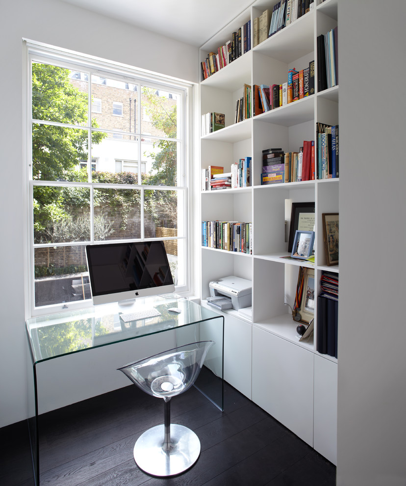 Lucite desk for small spaces