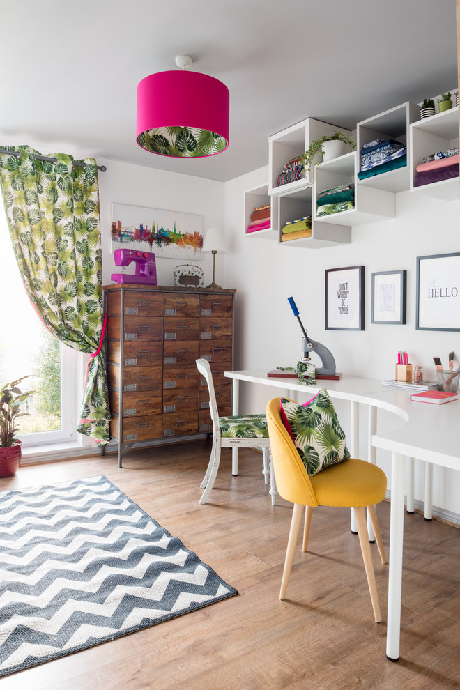 Playful Home Office For Two