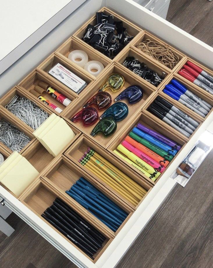 Office Drawer Dividers - Home Office Organizer Ideas