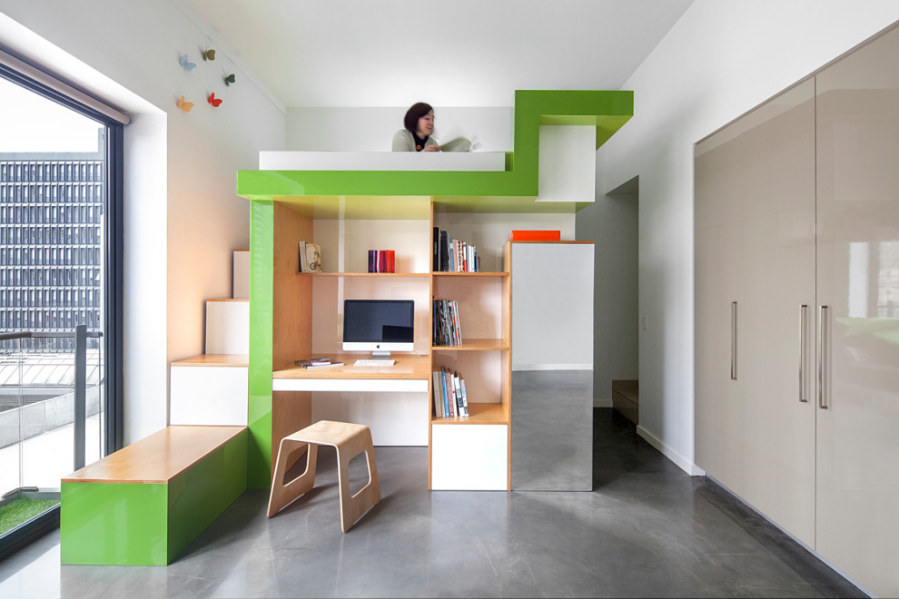 Compact Loft Beds with desk